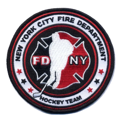 """Official FDNY Hockey Team 4"""" Patch"""