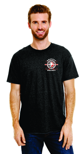 Hockey Stick Flag - Short Sleeve T-Shirt - Black