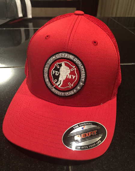 Hockey RED Flexfit Trucker Hat