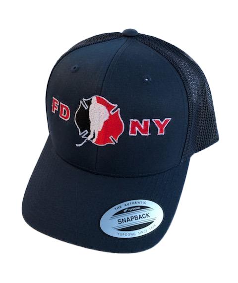 Hockey Solid Navy SnapBack Hat - FDNY Logo