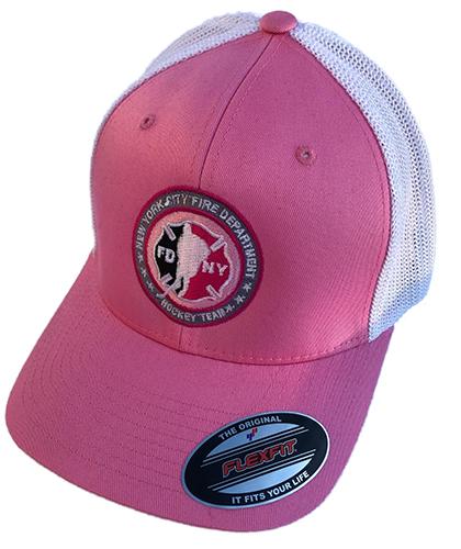 Hockey PINK with White Mesh Back Flexfit Trucker Hat