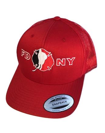 Hockey Solid Red SnapBack Hat - FDNY Logo