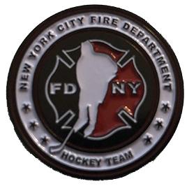 """Official FDNY Hockey Team 1"""" Pin"""